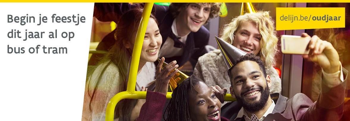 Begin dit jaar je feestje op bus of tram